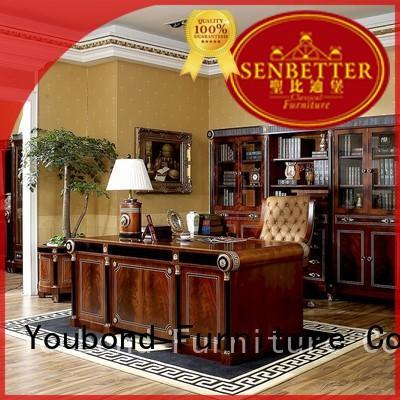Senbetter wood office desk with office writing desk for villa