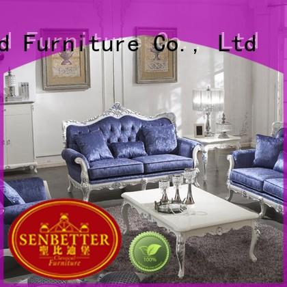 Senbetter classic living room furniture with fabric or leather sofa for villa