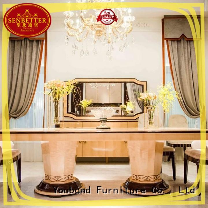 Senbetter hot sale classic dining room furniture sets with wooden table for sale