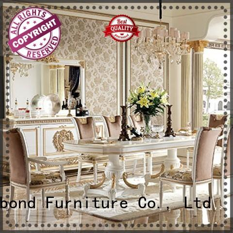 royal solid wood dining room table with buffetfor villa