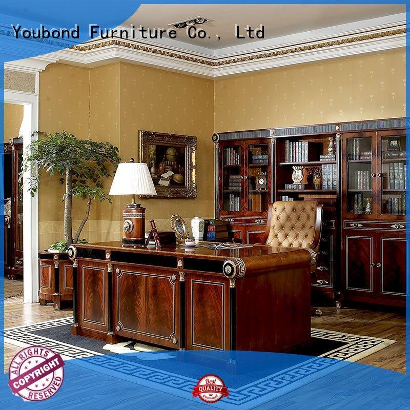 Senbetter italian classic wood home office furniture with office chair for company