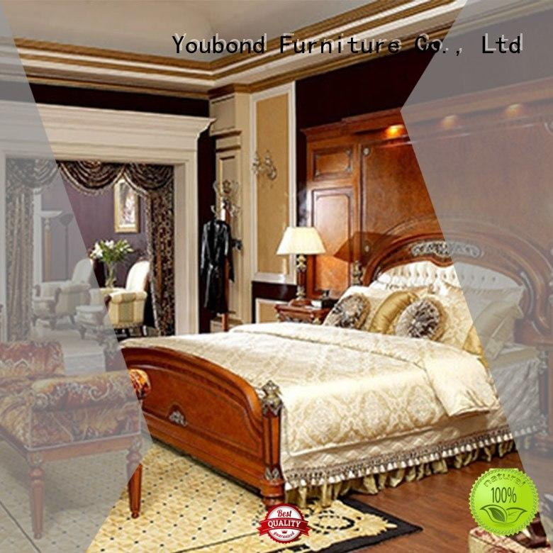 Senbetter high end antique bedroom furniture with shiny brass accessory decoration for decoration