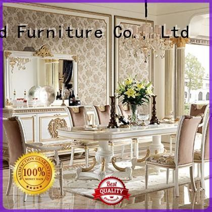 modern wooden dining set with chairs for hotel