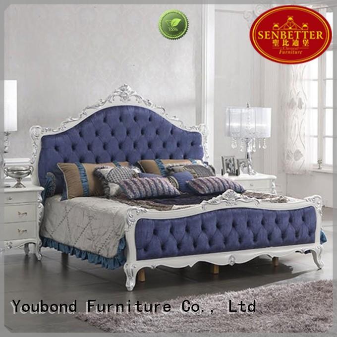 gross veneer wood OEM solid wood bedroom furniture Senbetter
