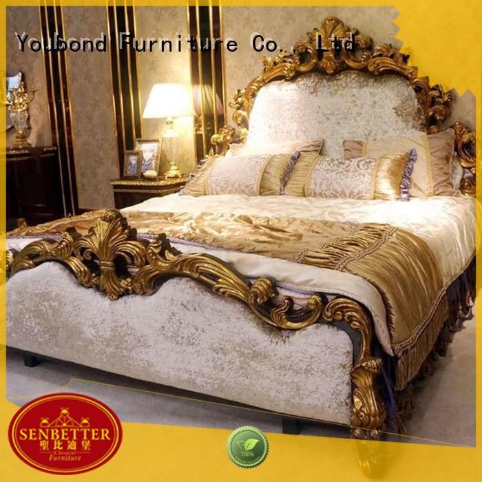 gross Custom style wood classic bedroom furniture Senbetter solid