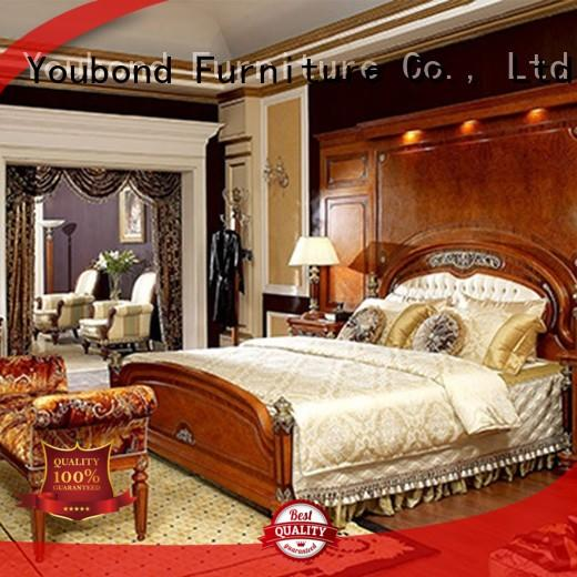 Senbetter veneer new classic furniture with solid wood table and chairs for royal home and villa