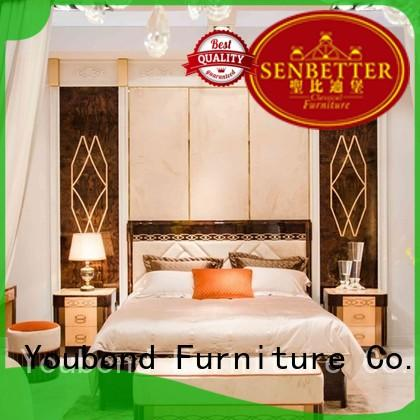 Senbetter veneer new classic furniture with white rim for royal home and villa