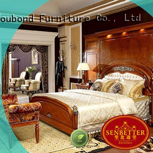high end legacy furniture bedroom set with shiny brass accessory decoration for sale
