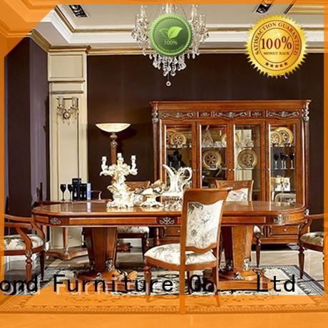 elegant solid wood dining set with wooden table for collection