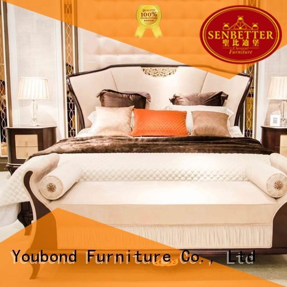 design style mahogany OEM classic bedroom furniture Senbetter