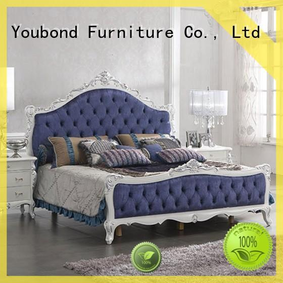 blue classic mahogany furniture with chinese element for royal home and villa