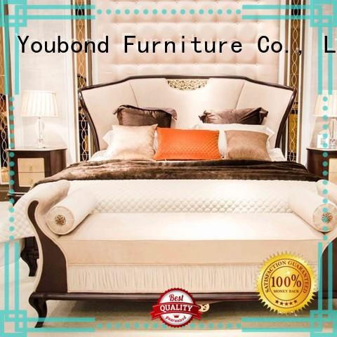 mahogany luxury bedroom furniture with solid wood table and chairs for sale