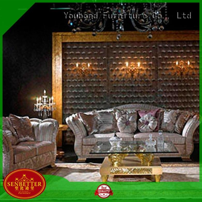 Senbetter french living room set deals with chinese element for hotel