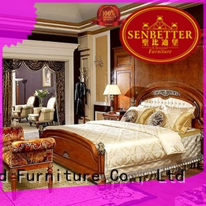 blue antique bedroom furniture with shiny brass accessory decoration for sale
