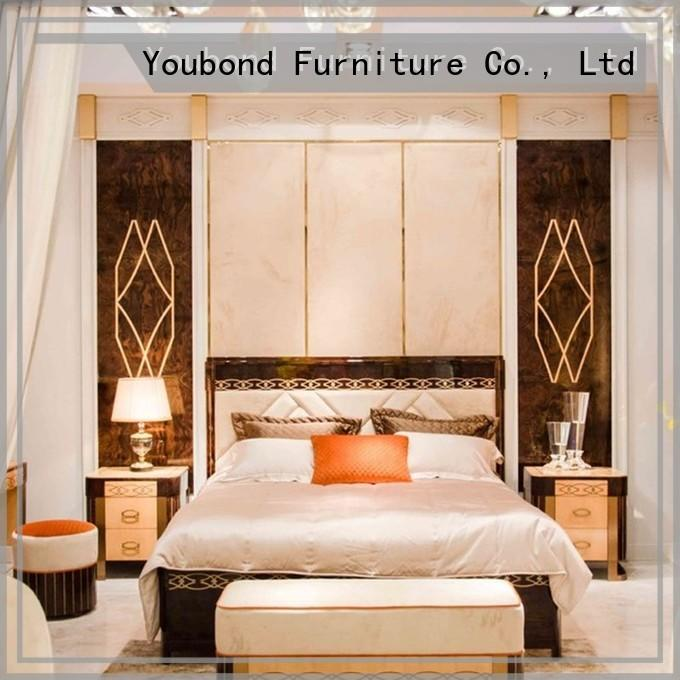 wholesale sauder bedroom furniture with shiny brass accessory decoration for royal home and villa