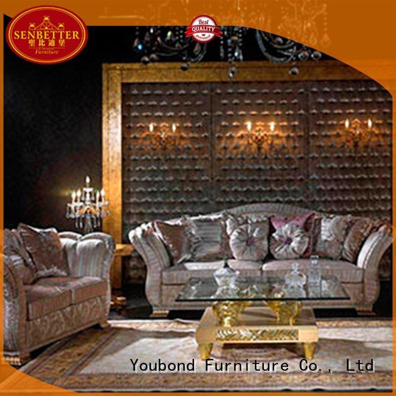 wood palace white living room furniture Senbetter Brand