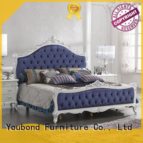 Senbetter italian style luxury bedroom furniture with white rim for royal home and villa