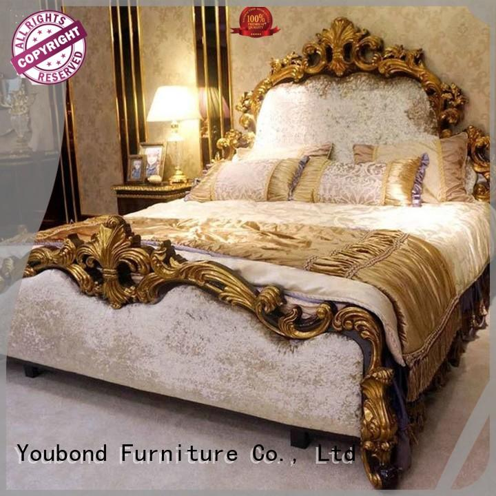 Senbetter royal classic italian bedroom furniture with shiny brass accessory decoration for decoration