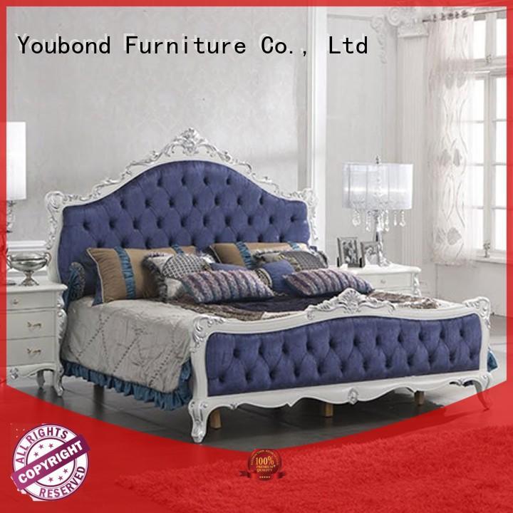 Senbetter classical italian bedroom furniture with white rim for decoration