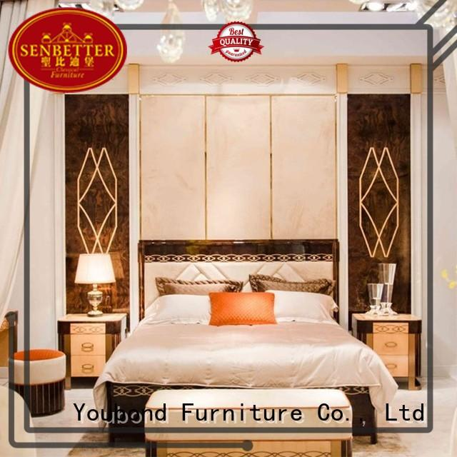 Senbetter best bedroom furniture with chinese element for royal home and villa
