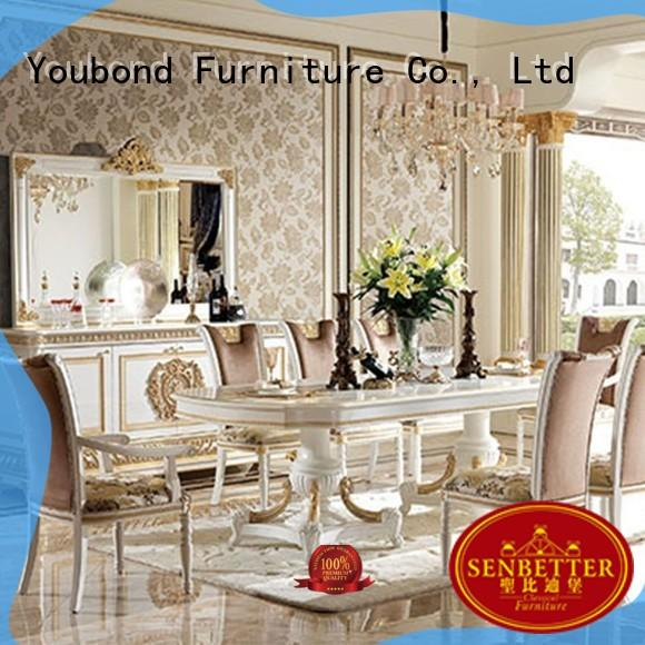Senbetter modern french provincial dining room furniture with chairs for villa