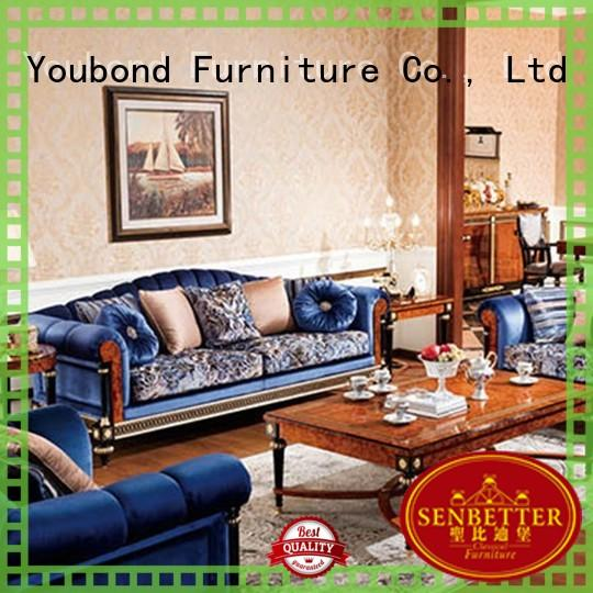Senbetter traditional sofa sets living room with buffet for living room
