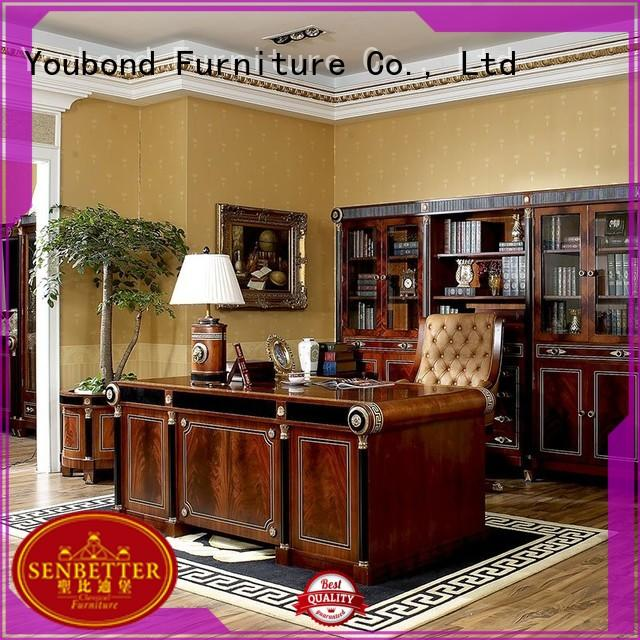 Senbetter luxury office table furniture with office writing desk for villa