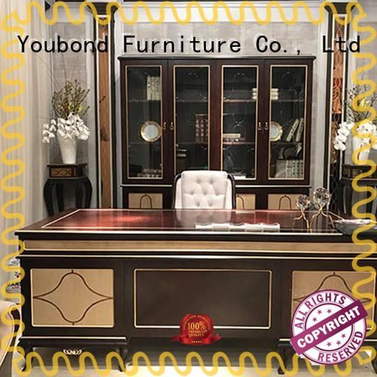 classic unique office furniture with bookcase for company