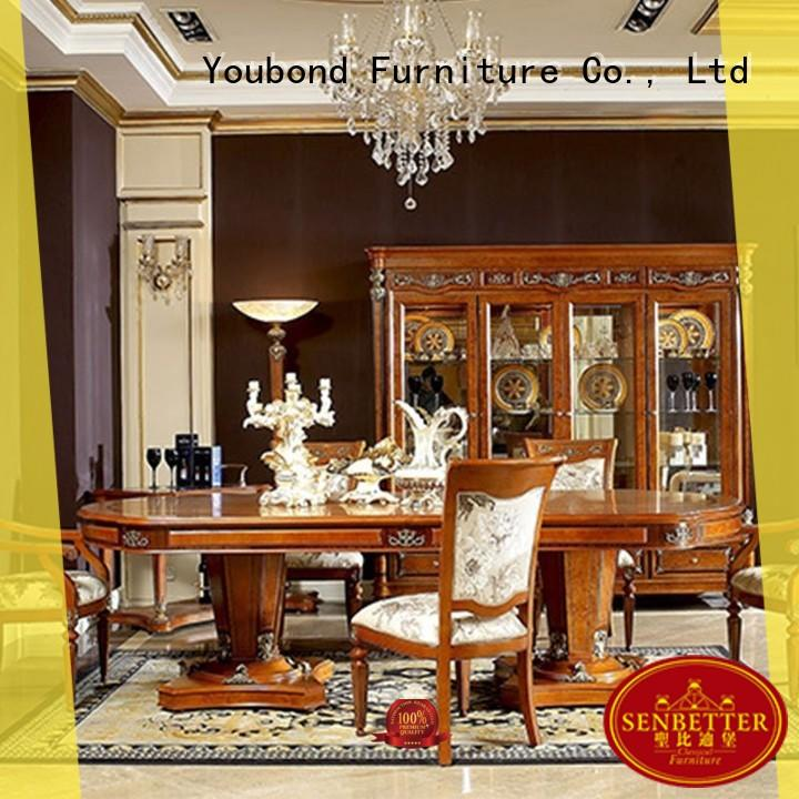 Senbetter classic dining room sets with wooden table for hotel