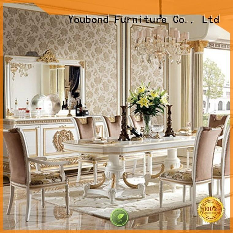 Home Furniture European Classic Style Hand Carving Dining Table And Chairs 0062