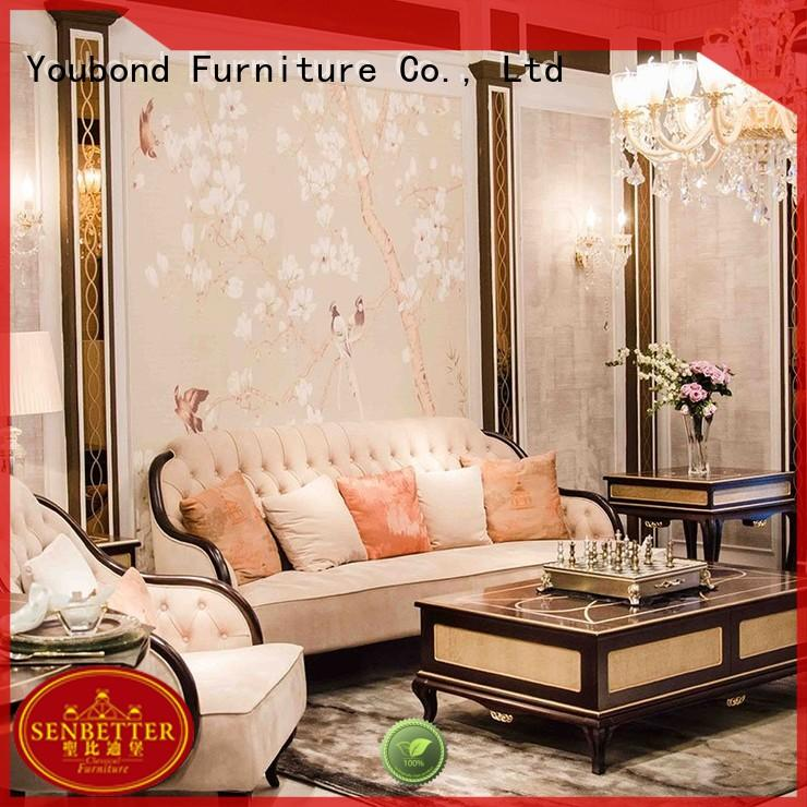 style furniture wood flower Senbetter Brand classic living room furniture supplier