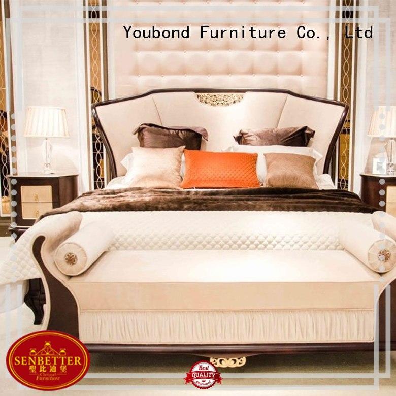 bed wooden bedroom furniture wardrobe for decoration Senbetter