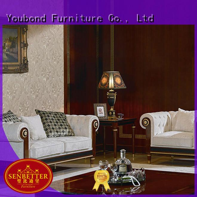 Senbetter Brand lifestyle palace classic living room furniture wood factory
