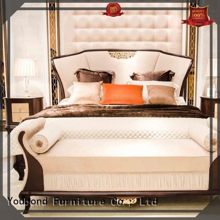 Senbetter traditional bed design with solid wood table and chairs for royal home and villa
