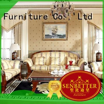 new classic sofa set with long dining table for living room