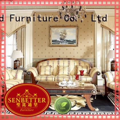 Senbetter wood living room furniture with long dining table for villa