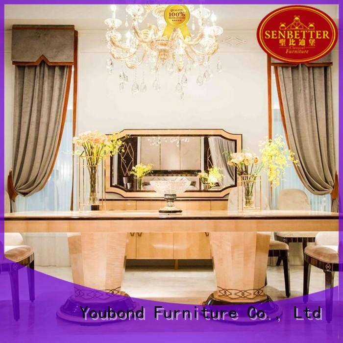 Senbetter oak dining furniture with wooden table for hotel