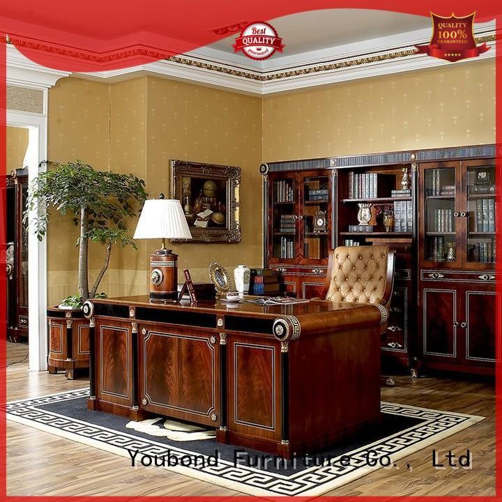 desk furniture mahogany study classic office furniture wood Senbetter Brand