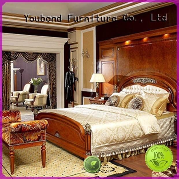 Senbetter italian bedroom furniture with shiny brass accessory decoration for sale