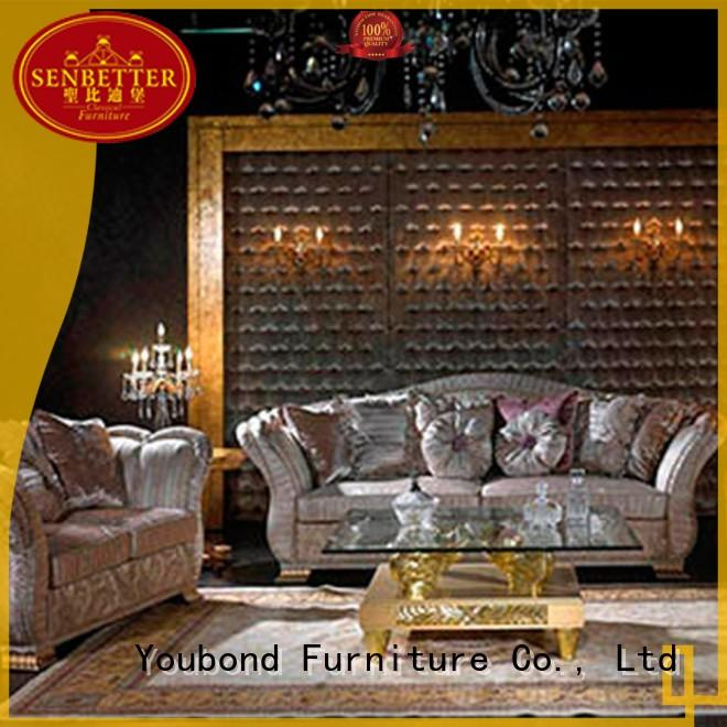 Senbetter unique living room furniture with flower carving for villa