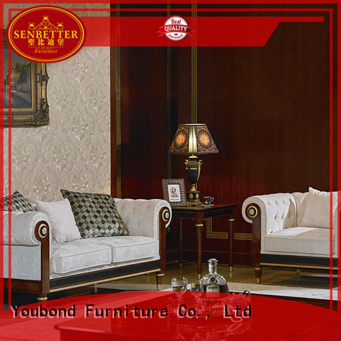 Senbetter living room furniture packages with flower carving for home