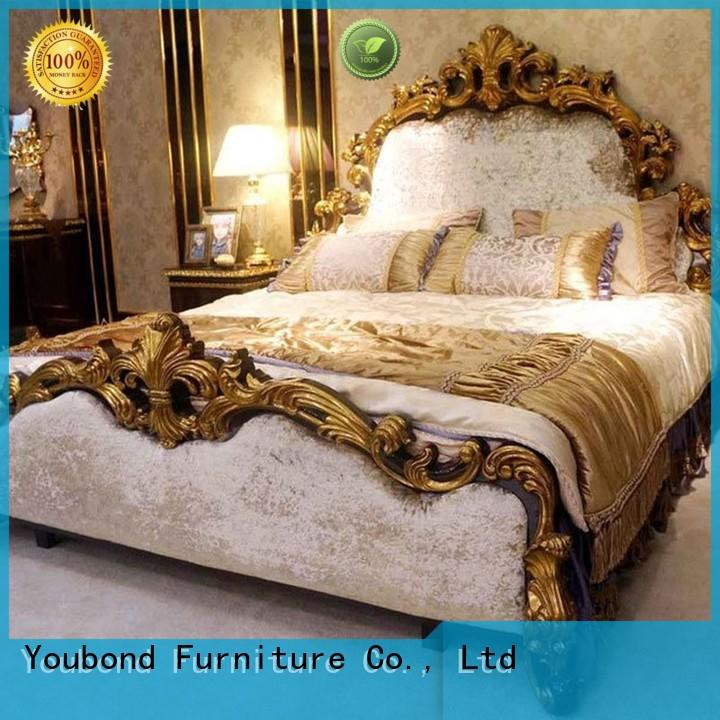 Senbetter royal italian bedroom furniture with white rim for royal home and villa