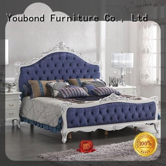 luxury vintage bedroom furniture with shiny brass accessory decoration for sale