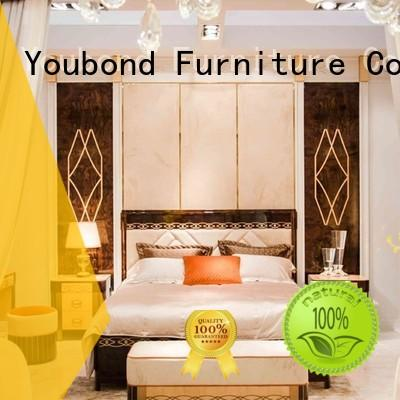 luxury italian bedroom furniture with solid wood table and chairs for royal home and villa