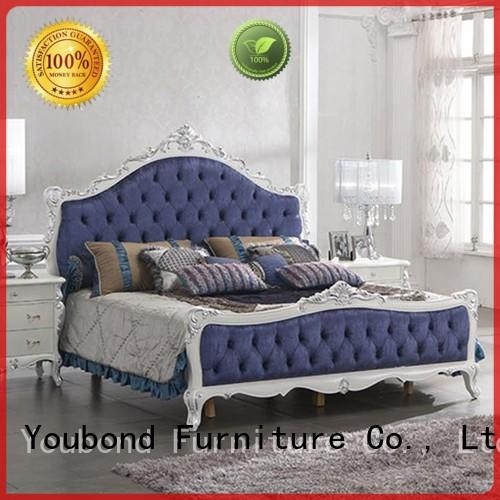 Senbetter royal european bedroom sets with shiny brass accessory decoration for decoration
