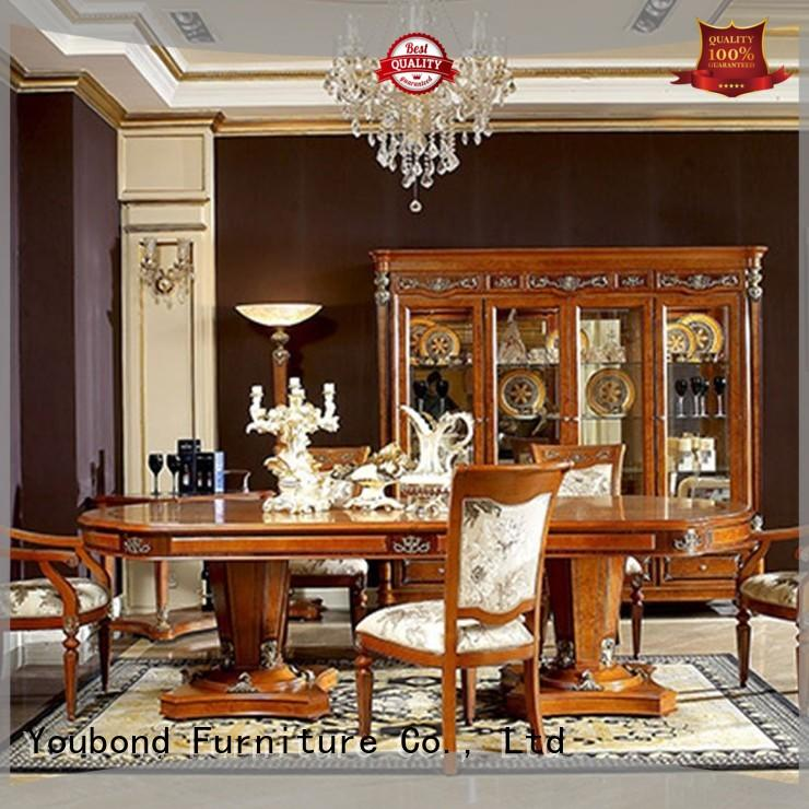 Luxury Modern Antique Classic Italian Dining Room Furniture With Wooden Dining Table 0029