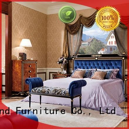 Senbetter veneer antique bedroom furniture with white rim for decoration