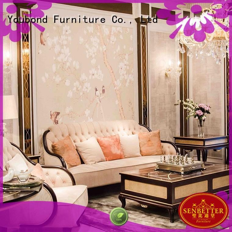 Senbetter Brand latest room luxury white living room furniture