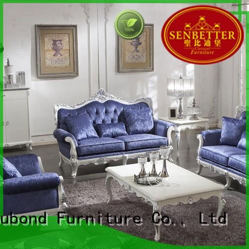 Senbetter front room furniture sets with solid wood chair for villa