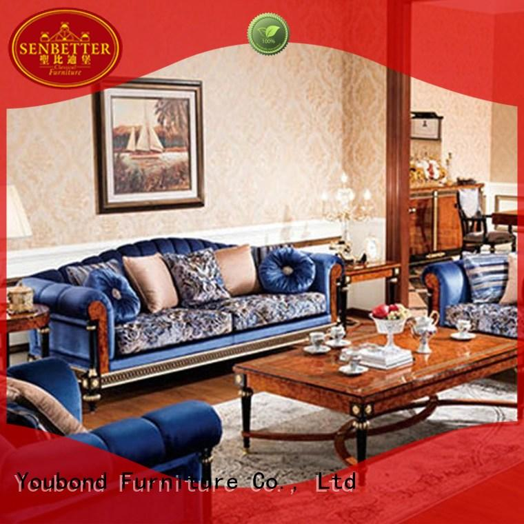 Senbetter wood living room table with mirror of buffet for hotel